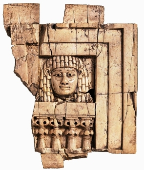 The famous Woman at the Window. Decorative ivory plaques like these were excavated at the site of the Palace at Samaria, built during the reign of Jezebel and Ahab