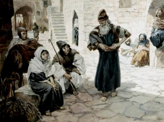 The travellers wait for an offer of hospitality, James Tissot