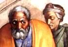 Michelangelo's painting of Jacob and Rachel, Sistine Chapel