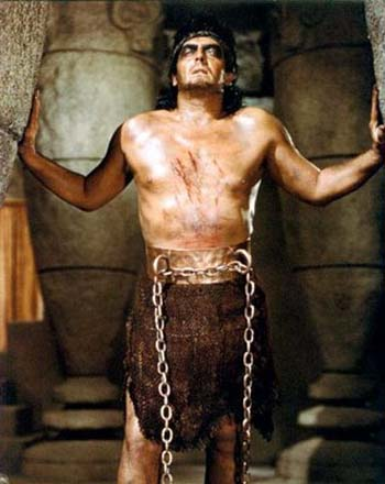 From the movie 'Samson and Delilah', Samson at the Temple of Dagon