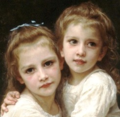 Basemath and Taphath, daughters of Solomon. Image taken from a Bourgeureau portrait.