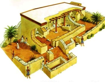 Reconstruction of the shrine/temple at Tel Qasile; the shrine Hannah visited may have been similiar, though probably on a more modest scale