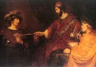 Bathsheba text, The Uriah Letter, Govaert Flinck