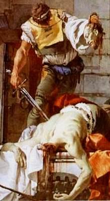 Bible murders: Herod and John the Baptist. Beheading of John the Baptist, Tiepolo