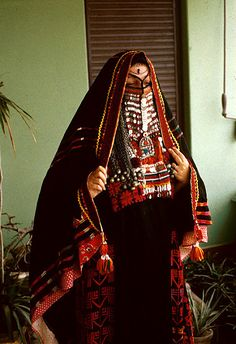 Heavily veiled woman