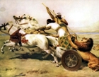Assyrian chariot used for lion hunting