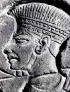 Egyptian wall carving showing a Philistines warrior
