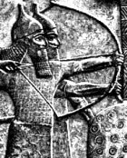 Assyrian archers with helmets and body armor