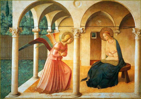 Bible Paintings: The Annunciation, Fra Angelico, 1438–45