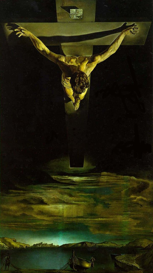 Bible Paintings: Christ of St John of the Cross, Salvador Dali, 1951
