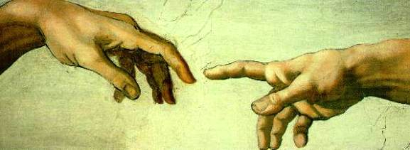 Bible paintings: Creation of Adam, Sistine Chapel, Michelangelo, 1508-1512