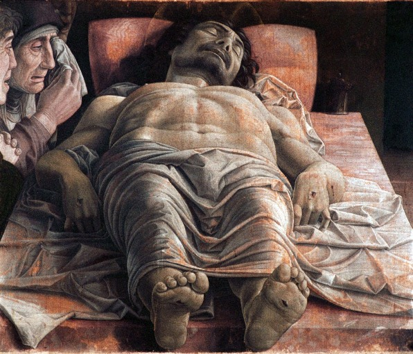 Bible paintings: The Dead Christ, Mantegna, 1399