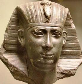 The Egyptian Pharaoh Necko, statue