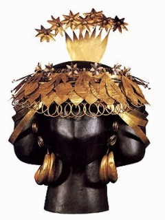 Gold headdress belonging to Queen Puabi of Ur.
