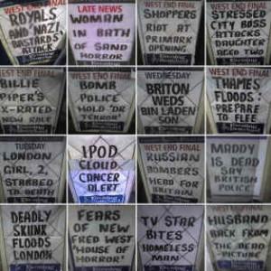 Slander, lies in newspaper headlines