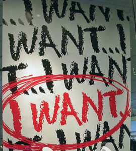 Good advice. Poster: I WANT...