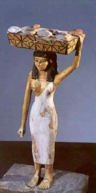 Statuette of an ancient Egyptian female worker