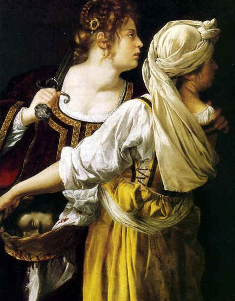 Artemisia Gentileschi, 'Judith and her Maidservan with the head of Holofernest', 1613-14