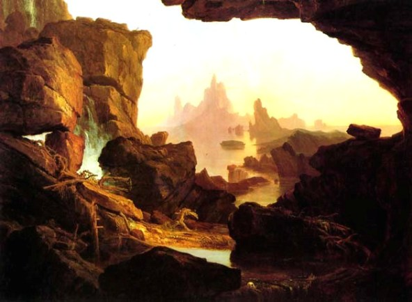 Paintings of Noah and the Ark, The Subsiding of the Waters of the Deluge,1829, Thomas Cole