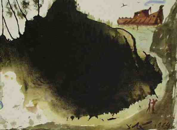 Paintings of Noah and the Ark, Salvador Dali, Aquae diluvii super terram, 1964