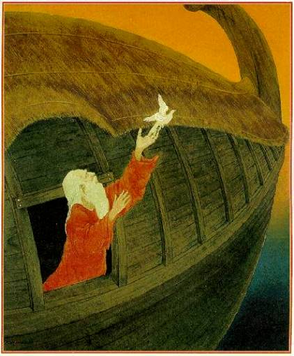 Paintings of Noah and the Ark, 'Noah', 1980's, Frank Wesley