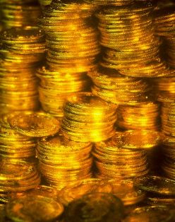 Money & Marriage: pile of gold coins