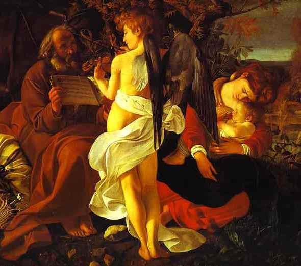 The Flight into Egypt, Caravaggio