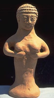 Figurines like this probably expressed ordinary people's hopes for a good harvest and years of plenty, but they were hated by the priests of Yahweh who believed passionately in one God, universal and all powerful