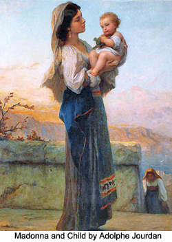 Madonna and child, by Adolphe Jourdan