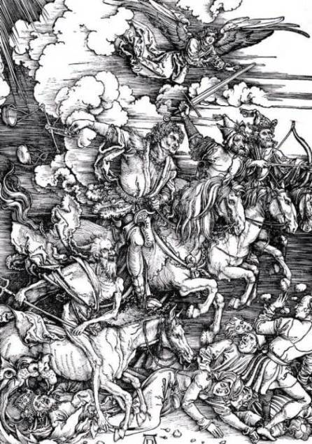 Revelation, Apocalypse. Four horsemen of the Apocalypse, Albrecht Durer