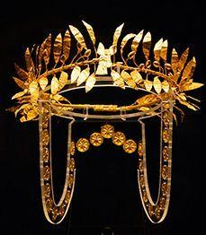 Gold crown from ancient Greece