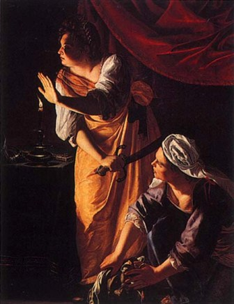 Judith and the Maid-servant with the head of Holofernes, Artemisia Gentileschi