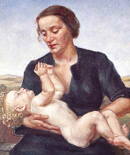 Motherhood, by Nora Heysen