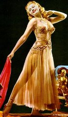 Rita Hayworth, Salome's dance in the movie 'Salome'