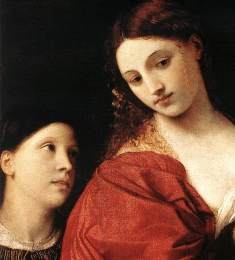 Bible Book of Judith. Judith with her maid