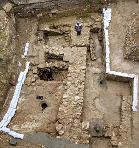 A house recently excavated in Nazareth