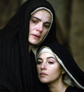 Bible movies, films. Mary of Nazareth and Mary Magdalene in 'The Passion of the Christ'