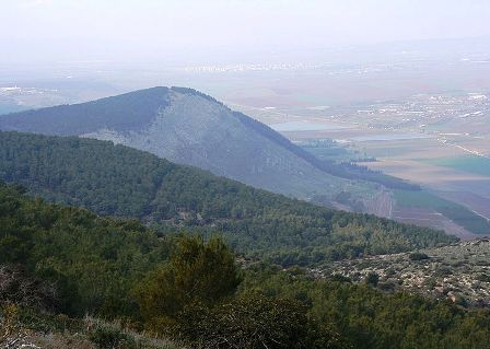 The slopes of Mount Tabor where Michal's father Saul and her three brothers, including Jonathan, were killed in battle against the Philistines