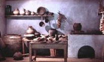 Reconstruction of an ancient kitchen