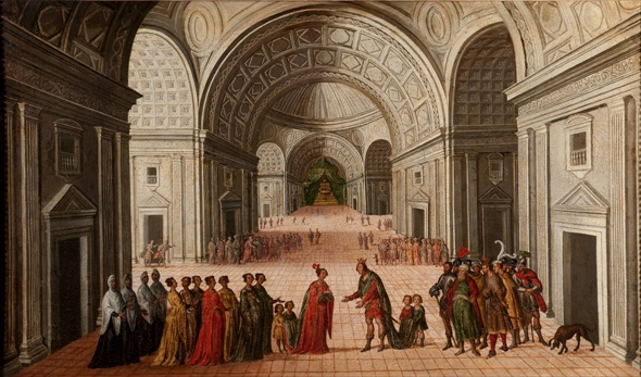 The meeting of Solomon and the Queen of Sheba, circle of Juan de la Corte