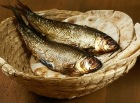 Bread and fish in a basket