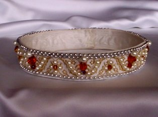 Pearl and ruby coronet