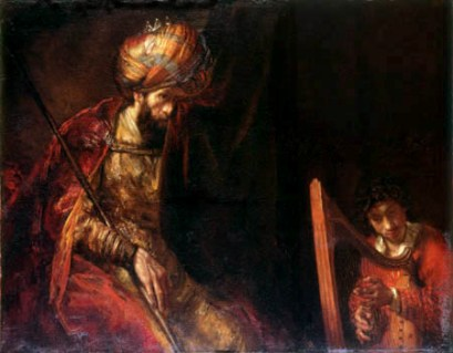 David Plays the Lyre for Saul, Rembrandt