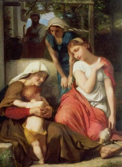 Naomi, Obed and Ruth, Emile Levy, 1859