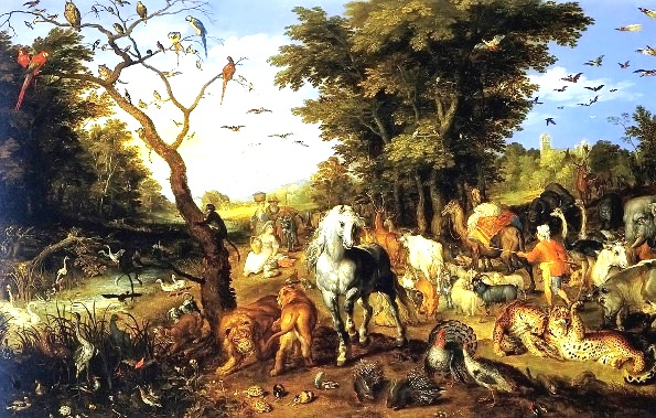 Paintings of Noah, The Entry of the Animals, Jan Brueghel the Elder, 1613