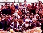 Large Middle Eastern family group