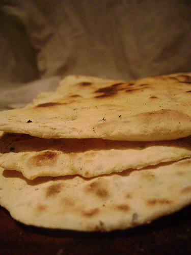Tamar & Amnon, Food_Turkish_flat_bread