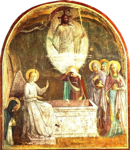 The Women at the empty tomb of Jesus, Fra Angelico, cell 9 San Marco