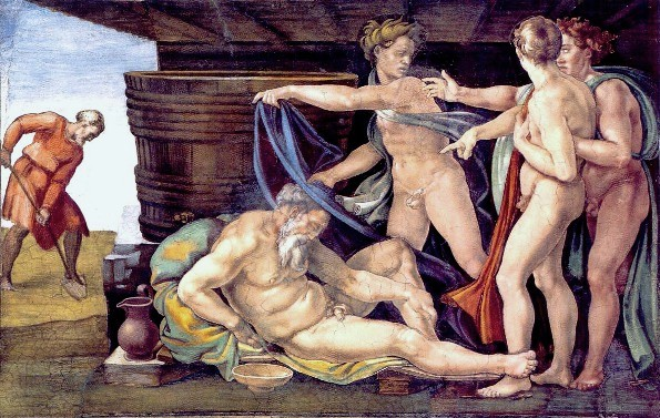 Paintings of Noah and the Ark, The Drunkenness of Noah Michelangelo Buonarroti