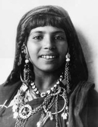 Book of Genesis: Photograph, 19th century, Middle Eastern girl